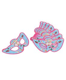 B Vishal Eye Masks Happy Birthday Print Pack of 10 - Aqua