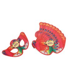 B Vishal Eye Masks Happy Birthday Print Pack of 10 - Red