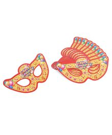 B Vishal Eye Masks Happy Birthday Print Pack of 10 - Yellow