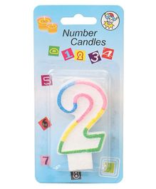 B Vishal Decorative Numeral Candle 2 - Multicolor