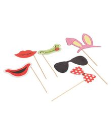 B Vishal Party Props Pack of 6 - Multicolour