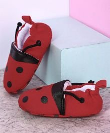Kidlingss Polka Dots Booties - Red