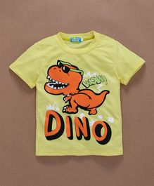 Lolly Kids Dino Printed T-Shirt - Yellow