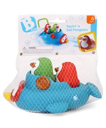 BKids Squirt N Sail Penguin Bath Toy Pack of 3 - Multicolour