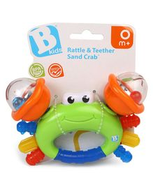 BKids Sand Crab Rattle Cum Teether - Multicolour