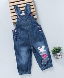 Baby Pep Mouse Applique Denim - Blue