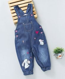 Baby Pep Rabbit Applique Dungaree - Blue