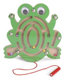 Alpaks Wooden Magnetic Maze Small Frog - Green