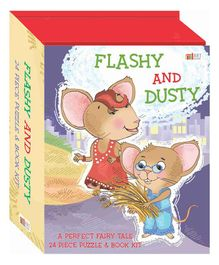 Art Factory Flashy & Dusty Activity Puzzle Book - English
