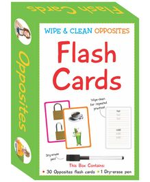 Art Factory Wipe & Clean Flash Cards Opposites Theme Multi Color - Pack of 30