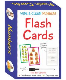 Art Factory Wipe & Clean Flash Cards Numbers Theme Multi Color - Pack of 30