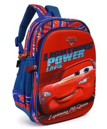 Disney Pixar Car School Bag Print Blue Red - 12 inches