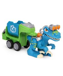 Hasbro Chomp Squad Raptor Compactor With Detachable Trailer - Blue & Green
