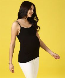 Momsoon Singlet Maternity Camisole - Black
