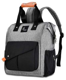 R for Rabbit Caramello Delight Backpack Style Diaper Bag - Black Grey