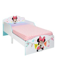 Disney Minnie Mouse Wooden Toddler Bed - Multicolour