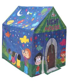 Awals Play Tent House With LED Light - Blue