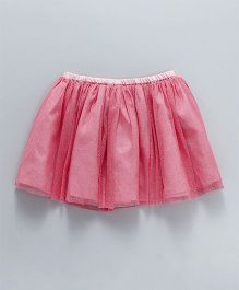 Tiara Short Party Wear Skirt - Dark Pink