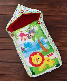 Fisher Price 3 in 1 Baby Carry Nest Monkey & Lion Print - Red