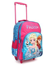 Disney Frozen Theme Trolley School Bag Pink Blue - Height 16 inches