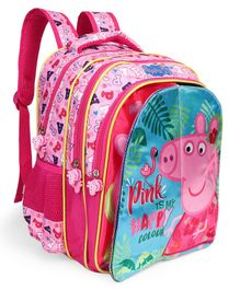 Peppa Pig Flap School Bag Pink - Height 14 inches