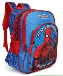 Marvel Spider Man Homecoming Print School Bag Blue - Height 16 inches
