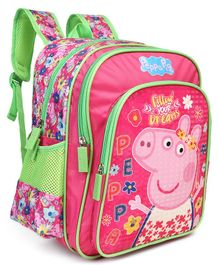 Peppa Pig With Tiara Theme School Bag Pink - Height 14 inches