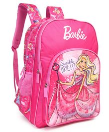 Barbie With Wand School Bag Pink - Height 18 inches