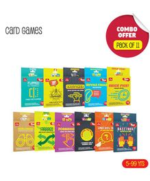 Toiing Fun Educational Card Games Pack of 11 - Multicolour