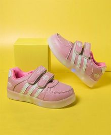 Little Maira Sports Shoes With LED Lights - Light Pink