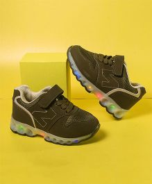 Little Maira Z Design Led Shoes - Olive