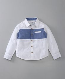 Babyoye Full Sleeves Shirt - White & Blue