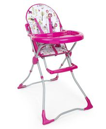 High Chair With Feeding Tray - Pink