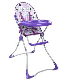 High Chair With Feeding Tray - Purple
