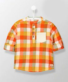 Cherry Crumble California Full Sleeves Checks Henley Shirt - Multi Color