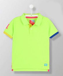 Cherry Crumble California Fine Mesh Polo Tee - Green