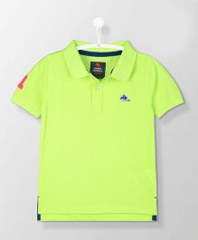 Cherry Crumble California Neon Polo Tee - Green