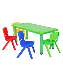 Yoto Rectangular Table & Chair Set - Multi Color