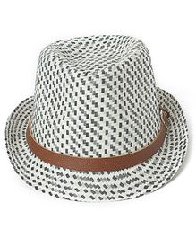 Little Hip Boutique Printed Hat - Black & White