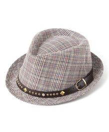Little Hip Boutique Plaid Hat - Grey