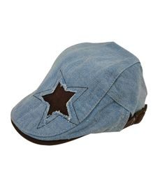 Little Hip Boutique Denim Rugged Star Cap - Blue