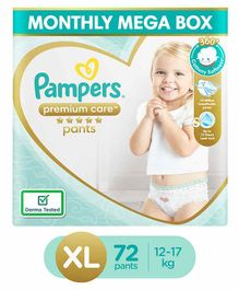 Pampers Premium Care Pant Style Diapers Extra Large Monthly Pack - 72 Pieces