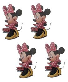 Party Anthem Minnie Mouse Wall Sticker Pack of 4 - Red Yellow