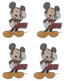 Party Anthem Mickey Mouse Wall Sticker Pack of 4 - Red Yellow