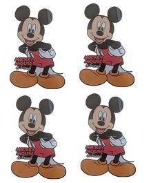 Party Anthem Mickey Mouse Wall Sticker Pack of 4 - Red