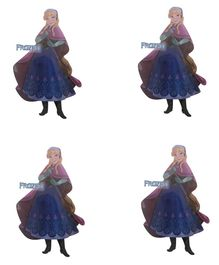 Party Anthem Anna Frozen Wall Sticker Pack of 4 - Blue