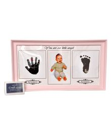 Passion Petals Baby Hand & Foot Print Kit With Photo Frame - Pink