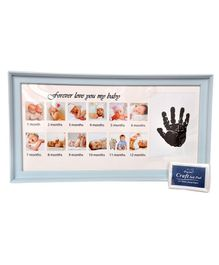 Passion Petals Baby Hand Print Kit With Photo Frame - Blue