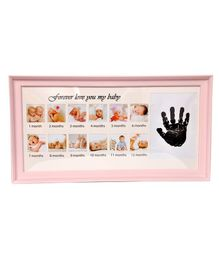 Passion Petals Baby Hand Print Kit With Photo Frame - Pink