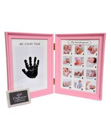 Passion Petals Baby Hand & Foot Print Kit With Picture Frame - Pink